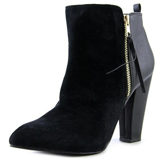 Steve Madden Jannyce Round Toe Suede Ankle Boot