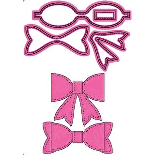 Pink & Main Dies-Large Bow