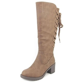 Rocket Dog Hickory Roast Women Round Toe Synthetic Brown Knee High Boot