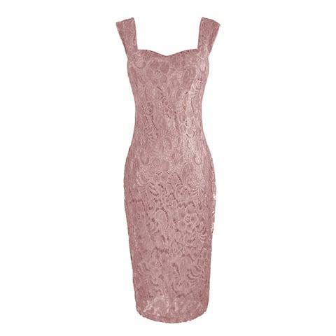 Women's Fashion Elegant Lace Chiffon Dress Two Piece Set