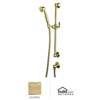 "Rohl 1330 Palladian Single Function Hand Shower with 24"" Slide Bar, 59"" Hose, and Wall Supply Outlet"