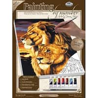 "Lion & Lioness - Paint By Number Kit Artist Canvas Series 9""X12"""
