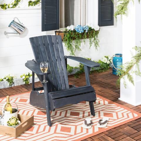 SAFAVIEH Vista Dark Slate Grey Adirondack Chair