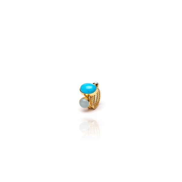 Harbor Ring Set in Turquoise- Size 7