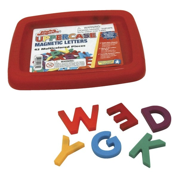 Educational Insights Uppercase Magnetic Letters, 1-1/2 Inches, Multicolors, Set of 42