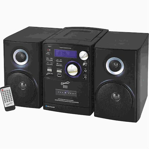 Supersonic SC-807 Supersonic SC-807 Micro Hi-Fi System - iPod Supported - CD Player, Cassette Recorder - 1 Cassette(s) - AM, FM