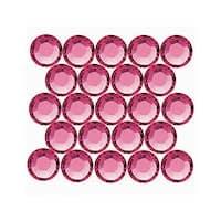 Swarovski Elements Crystal, Round Flatback Rhinestone Hotfix SS20 4.6mm, 50 Pieces, Indian Pink