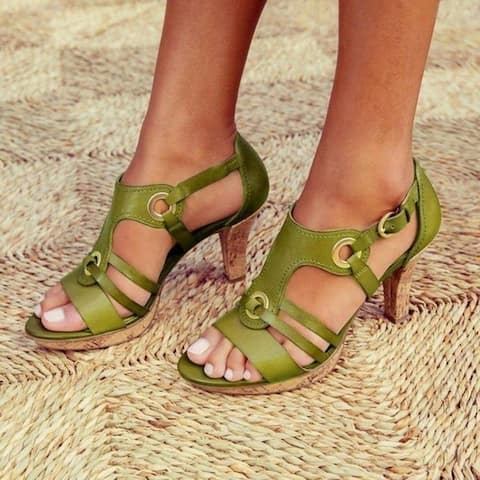 Women Sandals Ladies Shoes For Peep Toe Cross