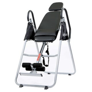 Inversion Table - Back Stretcher Machine for Pain Relief Therapy - Black