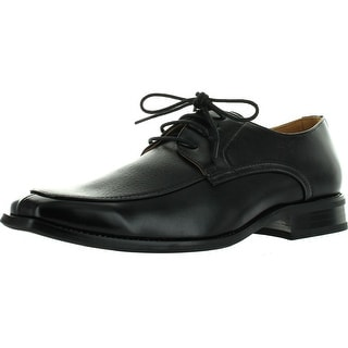 Coronado Men Dress Shoe Kelsey Oxford Classic Tuxedo With Apron Toe And Leather Lining - Black - 7.5 d(m) us