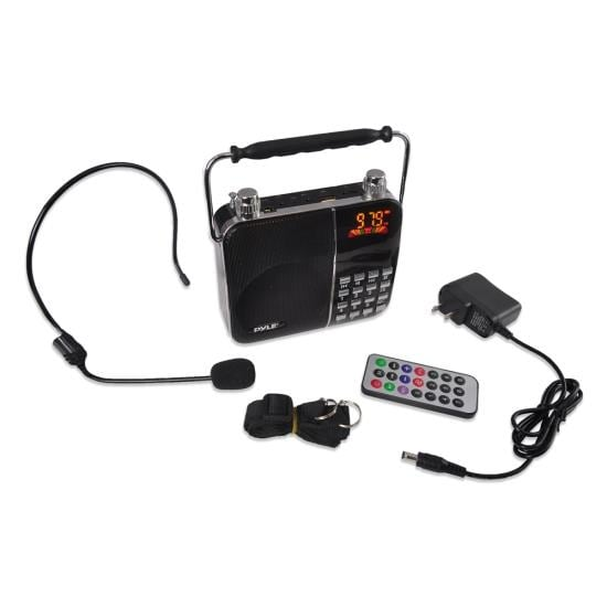 Portable Radio & PA Speaker System, Compact Headset Microphone Amplifier