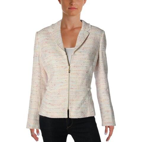 Tahari ASL Womens Petites Blazer Tweed Metallic - 12P