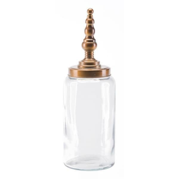 Shop Tower Jar Decorative Brass Steel Free Shipping Today 25069813