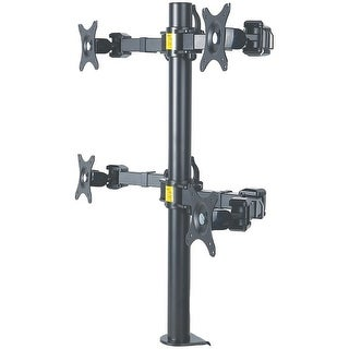MANHATTAN 461122 LCD Monitor Mount with Double-Link Swing Arms (Supports 4 Monitors)