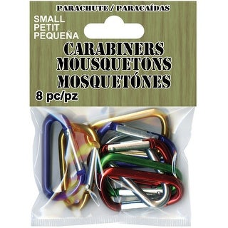 Paracord Carabiners Small 8/Pkg-