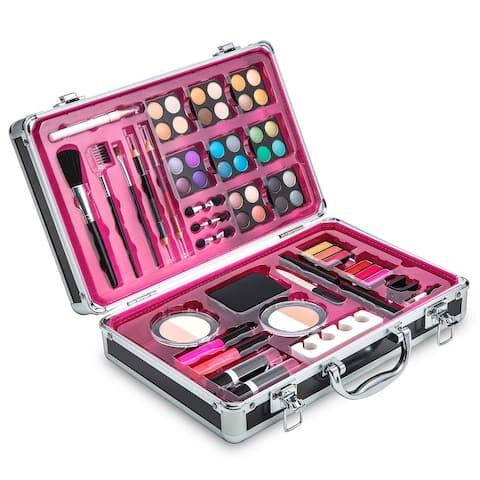 Vokai Makeup Kit Gift Set 32 Eye Shadows 6 Lip Glosses 2 Lip Gloss Wands 2 Lipsticks 1 Face Powder Duo 1 Blush Powder 1 Mascara
