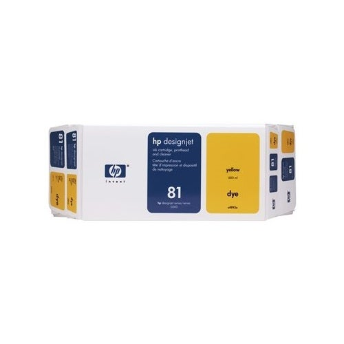 HP 81 Ink Cartridge - Yellow (C4993A) (Single Pack)