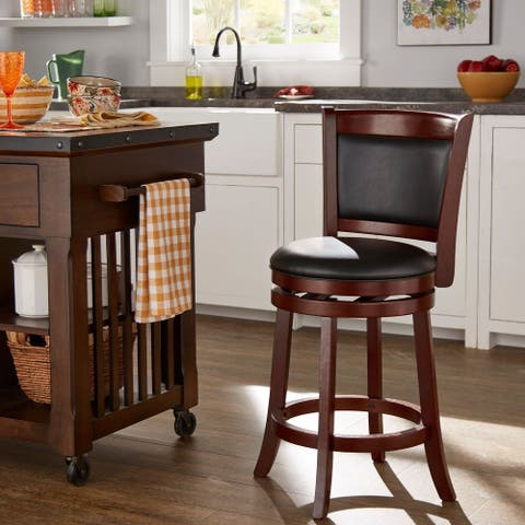 Verona Swivel High Back Counter Height Stool by iNSPIRE Q Classic
