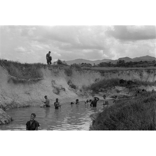 shop vietnam war us marines bathe in the stream at the base of hill