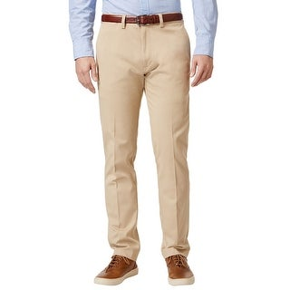 LACOSTE Big & Tall Cotton Flat Front Chinos Pants Khaki 43 Waist