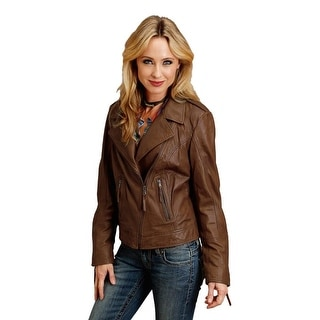 Stetson Western Jacket Womens Motorcycle Zipper