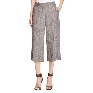 Theory Womens Halientra Culottes Linen Crepe Heathered