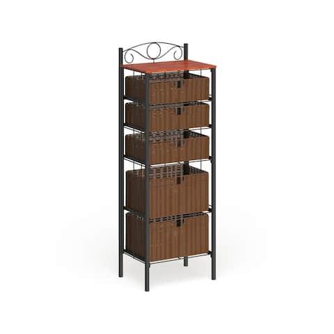 Copper Grove Stoyoma Wicker 5-drawer Storage Unit