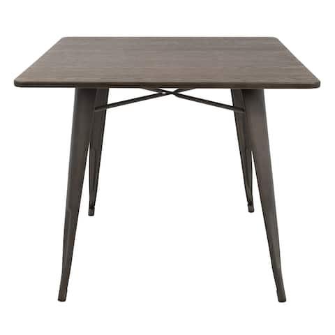"Carbon Loft Samira 36"" Industrial Farmhouse Dining Table"