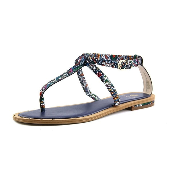 Isola Mackenzie Women Open-Toe Leather Multi Color Slingback Sandal