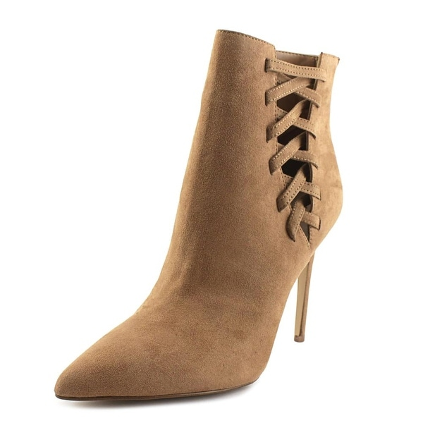 Aldo Tuxedo Women Pointed Toe Canvas Tan Ankle Boot