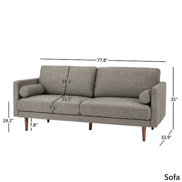 Oana Mid-Century Tapered Leg Seating Collection by iNSPIRE Q Modern