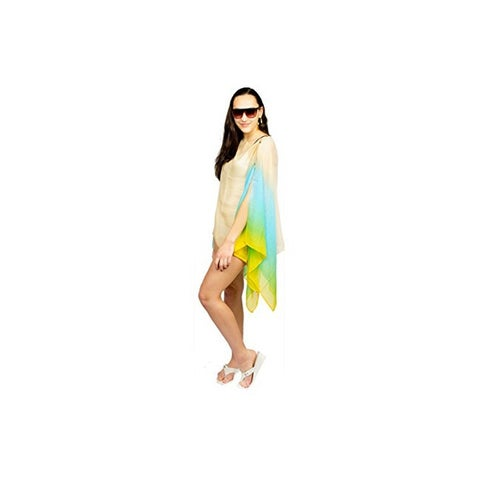 Womens Ombre Chiffon Poncho Summer Coverup