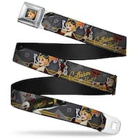 Harley Quinn Bombshell Pin Up Face Full Color Harley Quinn Aviation Pin Up Seatbelt Belt