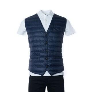 Brunello Cucinelli Hundred percent Nylon Blue Puffer Vest Coat