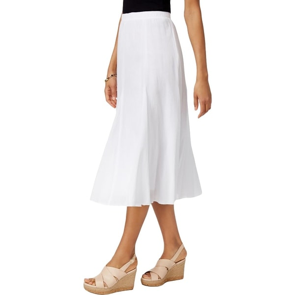 149654b02 Shop Alfred Dunner Womens Petites Midi Skirt Gauze Pull On - ps - Free  Shipping On Orders Over $45 - Overstock.com - 21832617