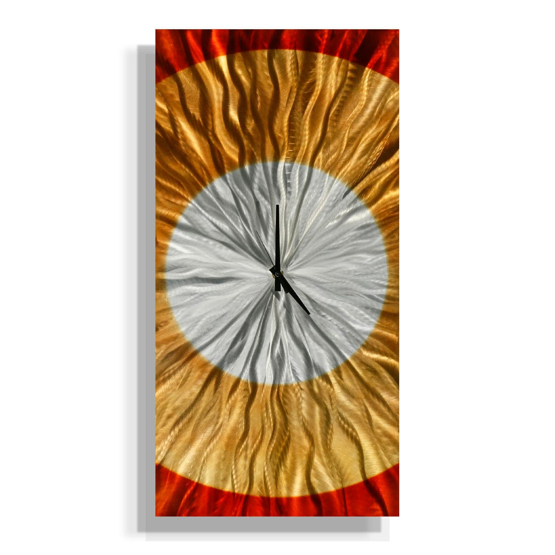 Statements2000 Amber / Copper 24-inch Metal Hanging Wall Clock - Dusk Clock - Thumbnail 0