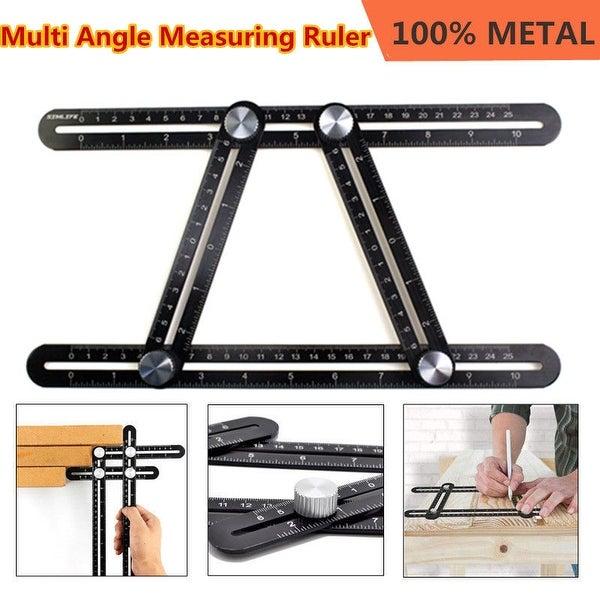 Shop Multi Angle Measuring Ruler Angleizer Template Tool Black