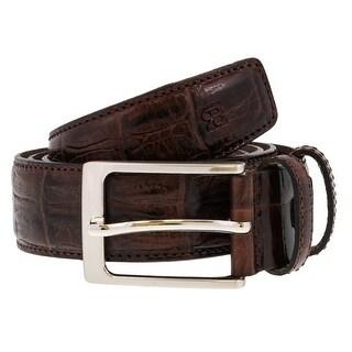 Renato Balestra W855 MARRONE Dark Brown Leather Mens Belt