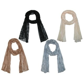 CTM® Women's Neutral Fashion Scarf Set (Pack of 4) - One size