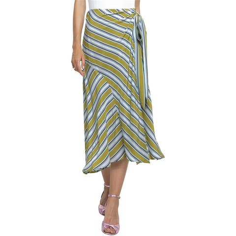 Astr The Label Womens Teagan Striped Midi Skirt