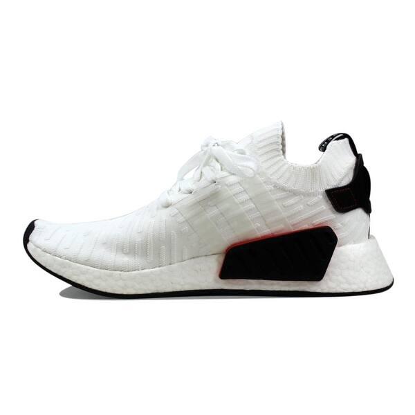 sports shoes 63a7a 7dbb6 Shop Adidas Men's NMD R2 Primeknit White/Black BY3015 - Free ...