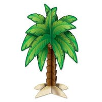 """Club Pack of 12 Tropical 3-D Palm Tree Centerpiece Luau Party Decorations 11.75"""" - Green"""