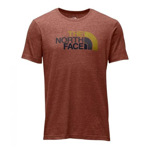 The North Face Short-Sleeve Half Dome Tri-Blend Tee Ketchup Red Heather/Arrowwood Yellow Multi