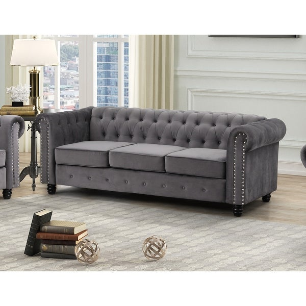 Best Master Furniture Tufted Upholstered Sofa. Opens flyout.