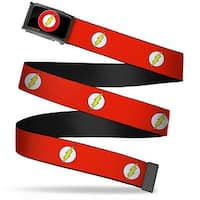 Flash Logo Fcg Black  Chrome Flash Logo Red White Yellow Webbing Web Belt