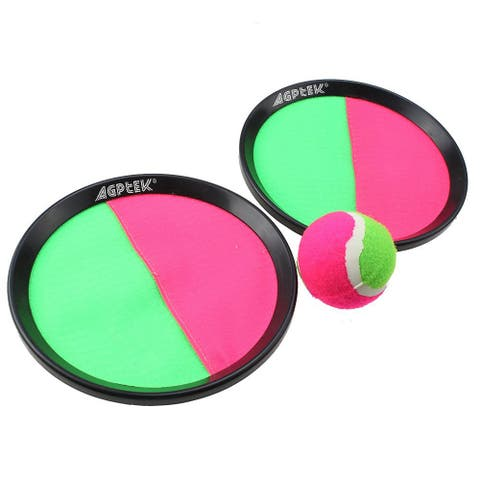 Hook and Latches Self Stick Toss and Catch sport game for 2 players with 1 ball - M
