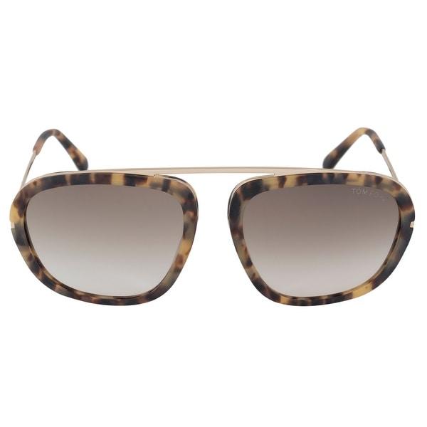874d6926691a Shop Tom Ford Johnson Men s Navigator Sunglasses FT0453 53F 57 ...