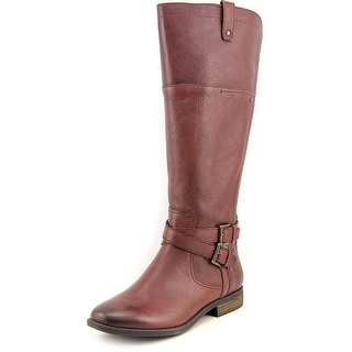 Marc Fisher Audrey Wide Calf Women W Round Toe Leather Knee High Boot