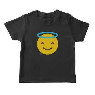 Smiling Face With Halo Emoji Girl's T-shirt