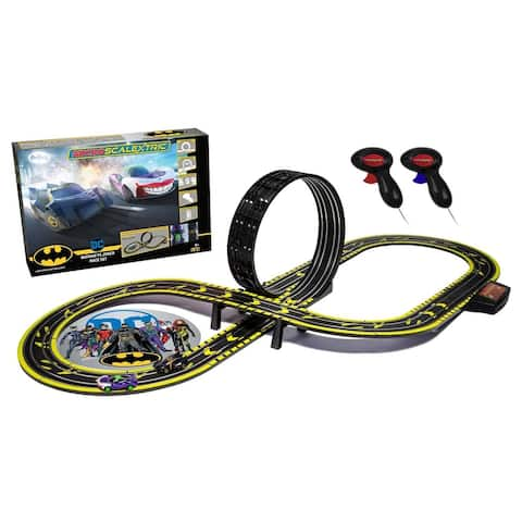 Micro Scalextric Justice League Batman vs Joker Battery Powered 1:64 Slot Car Race Track Set G1155T